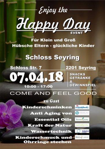Flyer zu Happy Day am 7. April
